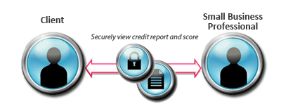 Credit Checking Between Small Business Professionals and Their Clients - Quickly View Credit Report and Score